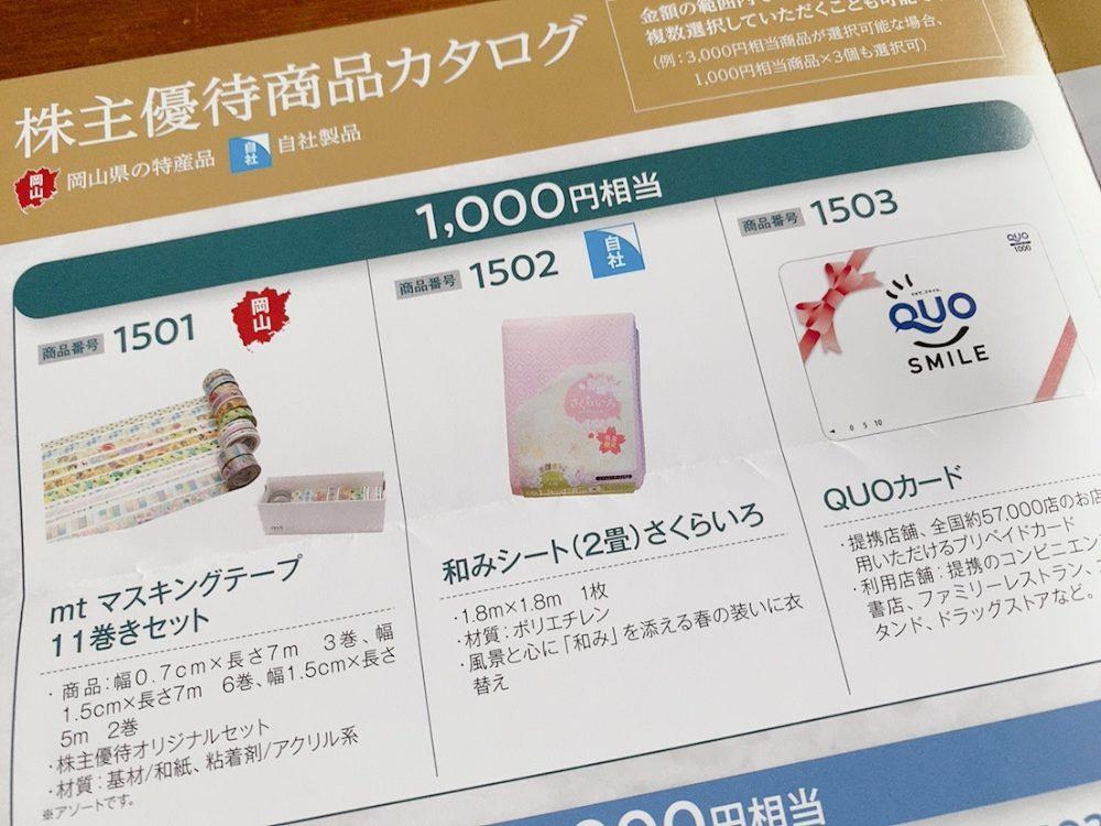 萩原工業(7856)からの株主優待カタログ
